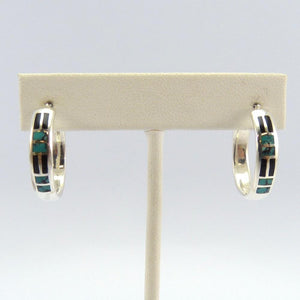 Turquoise and Onyx Earrings