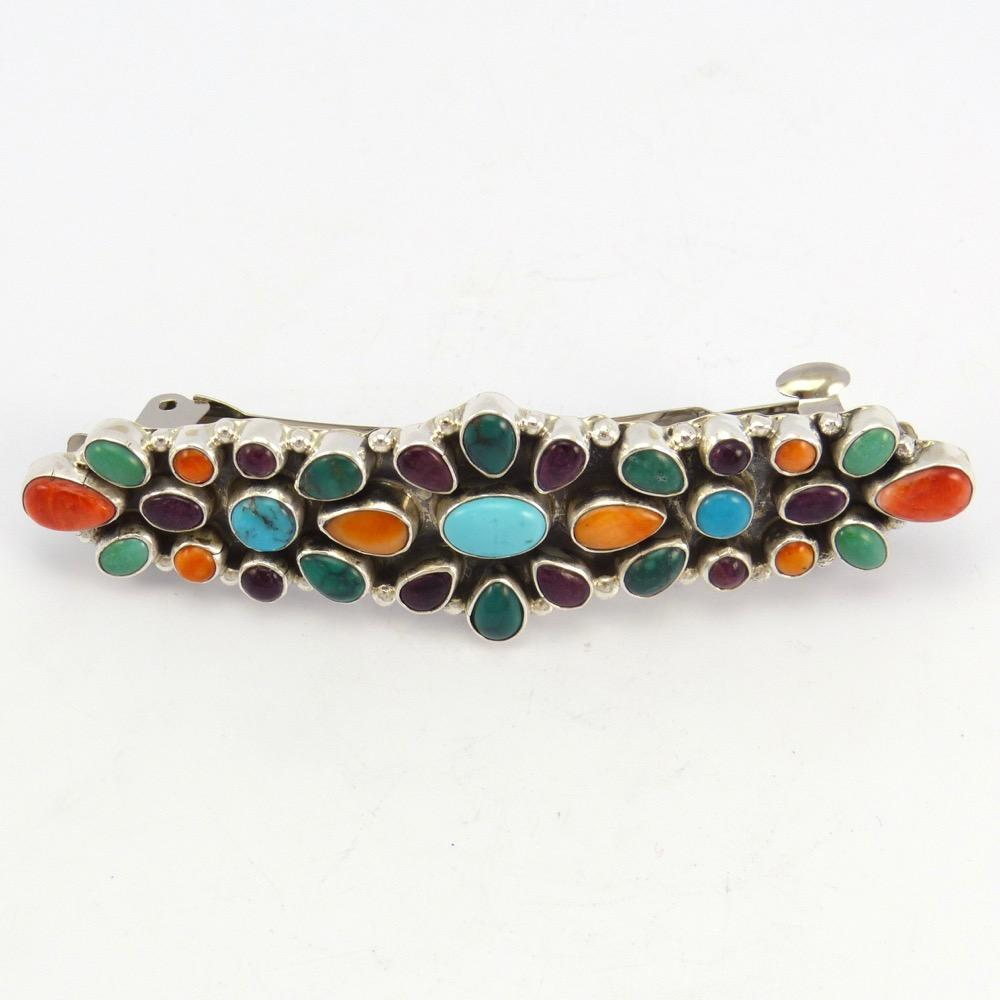 Turquoise and Spiny Oyster Barrette