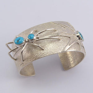 Turquoise Spider Cuff