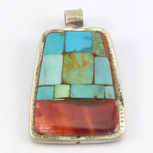 Turquoise and Shell Pendant