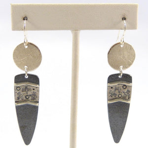 Cast Silver Earrings