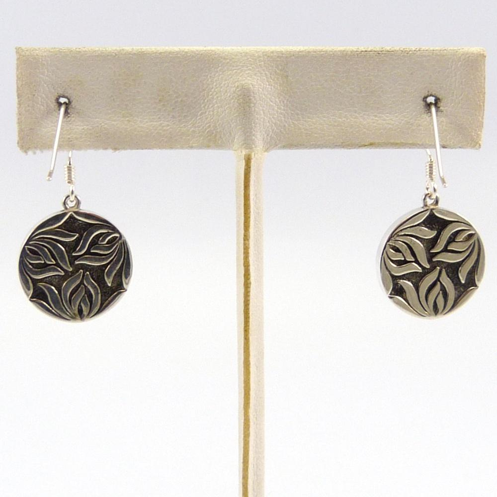 Coral Spirit Medallion Earrings