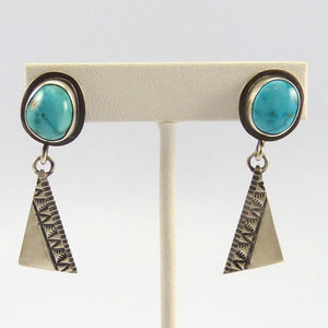 Apache Blue Turquoise Earrings