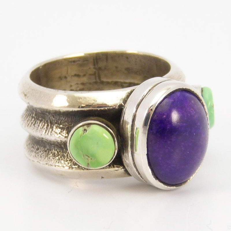 Turquoise and Sugilite Ring