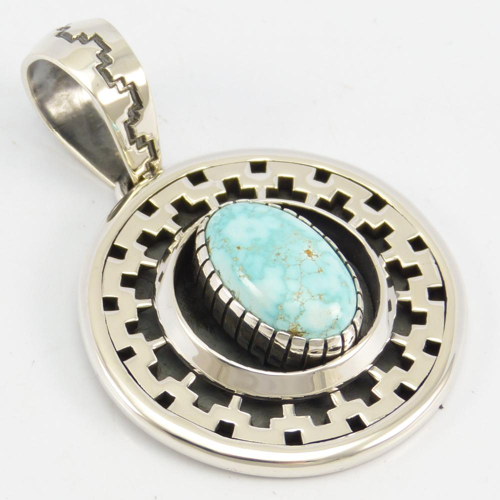 Number Eight Turquoise Pendant
