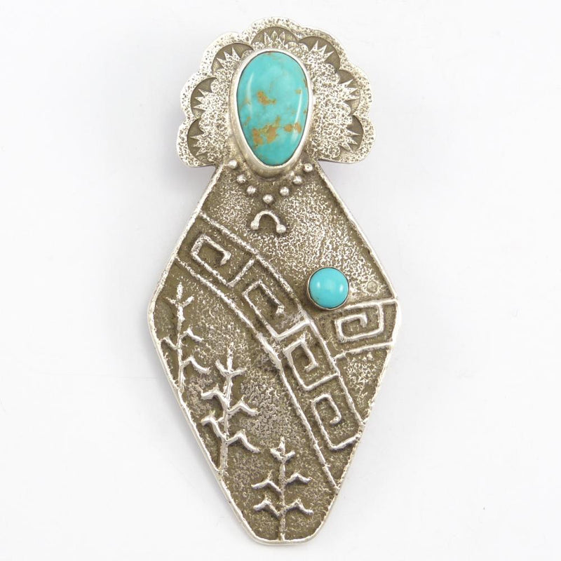 Turquoise Maiden Pin and Pendant