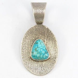 Reversible Turquoise and Coral Pendant