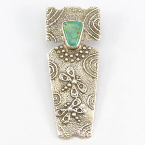 Cripple Creek Turquoise Pin and Pendant