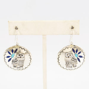 Owl Inlay Earrings