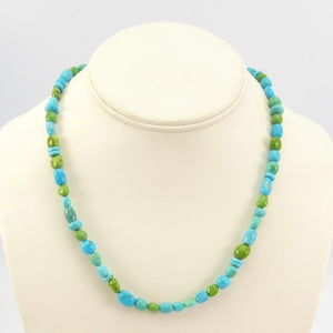 Turquoise and Gaspeite Necklace