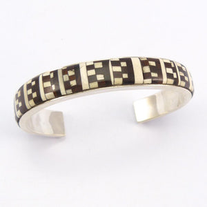 Ironwood and Fossilized Ivory Cuff