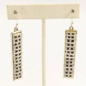 Ironwood and Fossilized Ivory Earrings