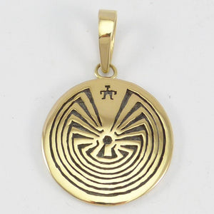 "Gold on Silver ""Man in Maze"" Pendant"