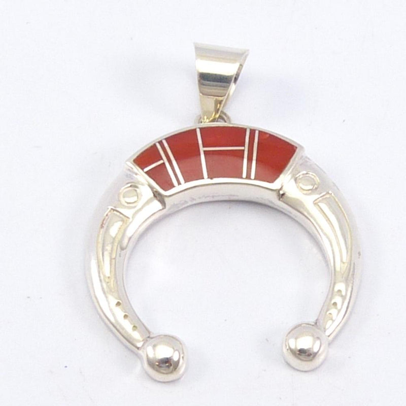 Coral Inlay Pendant