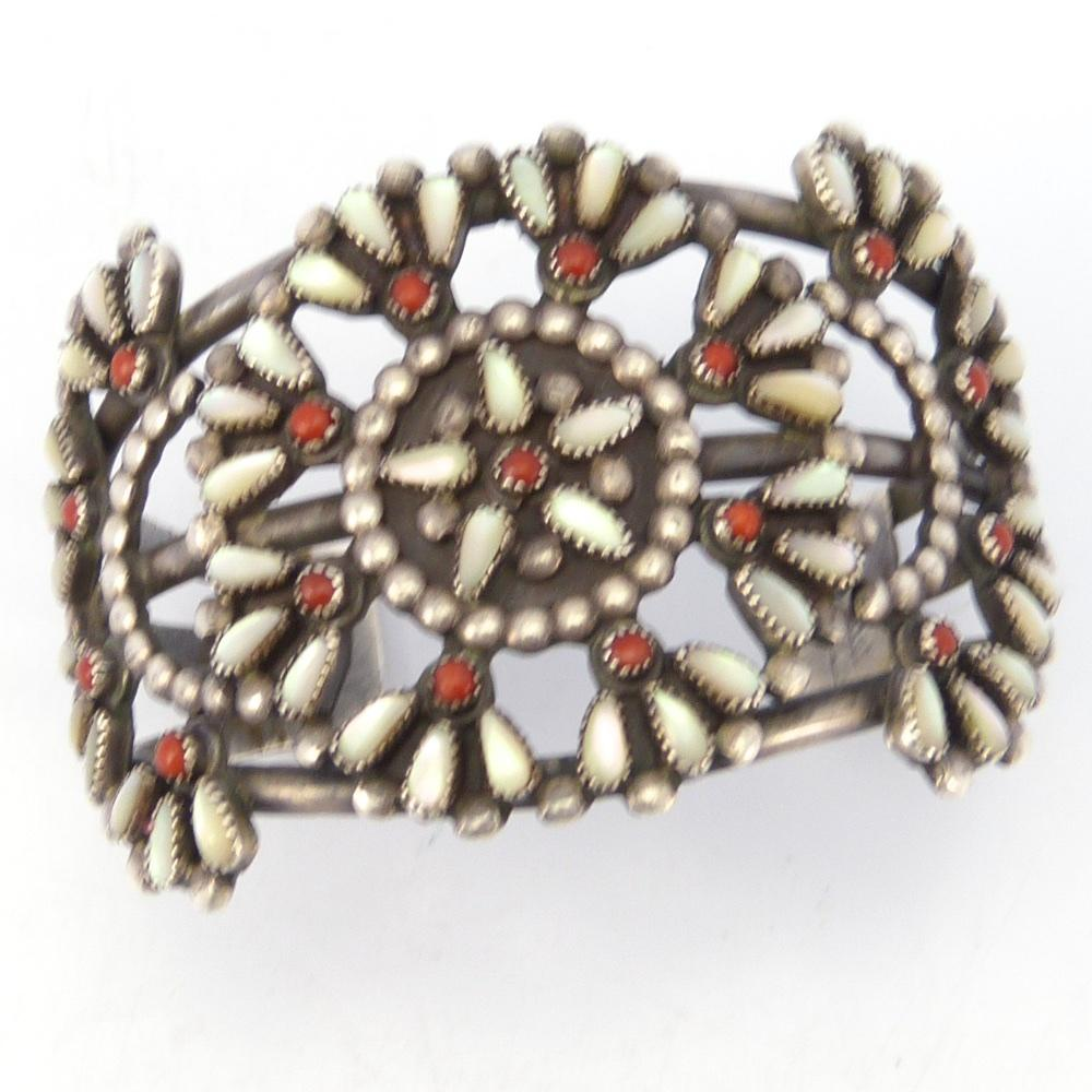 Coral and Mother of Pearl Cuff