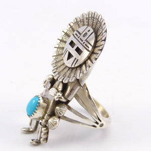 Sleeping Beauty Turquoise Sunface Ring