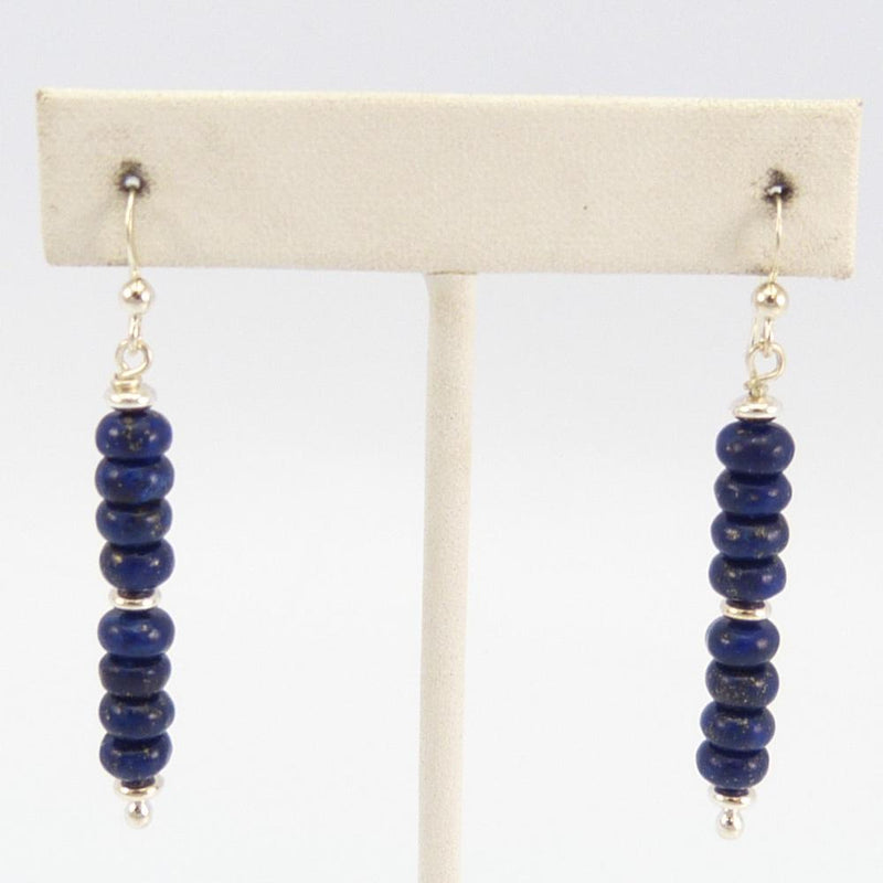 Lapis Bead Earrings