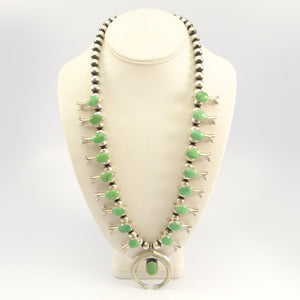 Variscite Squash Blossom Necklace