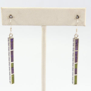 Gaspeite and Sugilite Earrings