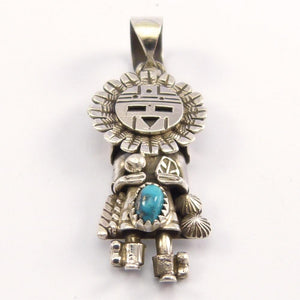 Bisbee Turquoise Sunface Pendant