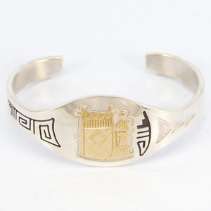 Gold on Silver Weaver Cuff