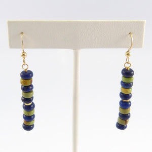 Lapis and Turquoise Bead Earrings