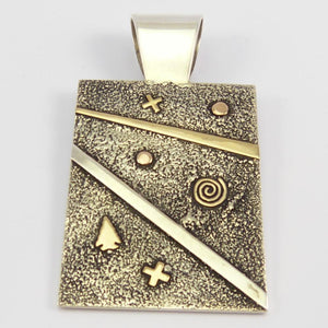 Reversible Gold on Silver Pendant
