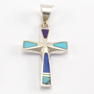 Inlay Cross Pendant