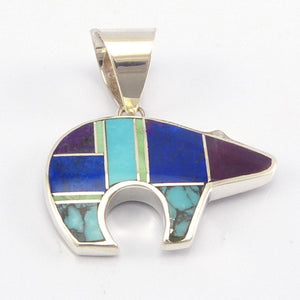 Inlay Bear Pendant
