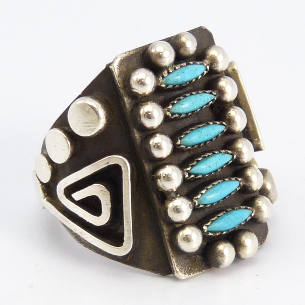 Turquoise Needlepoint Ring