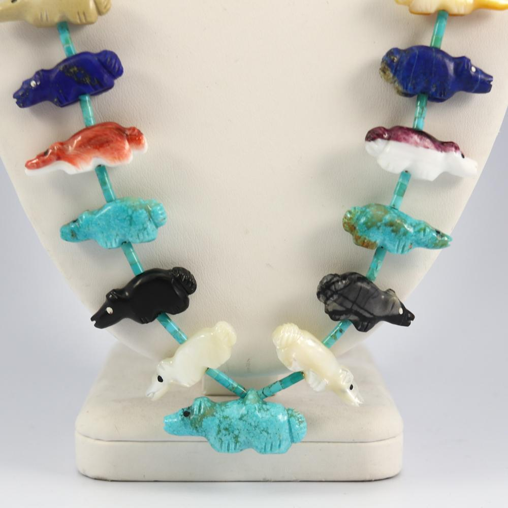 Zuni Bear Fetish Necklace