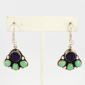 Sugilite and Variscite Earrings