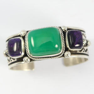 Chrysoprase and Sugilite Cuff