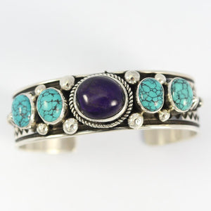 Sugilite and Turquoise Cuff