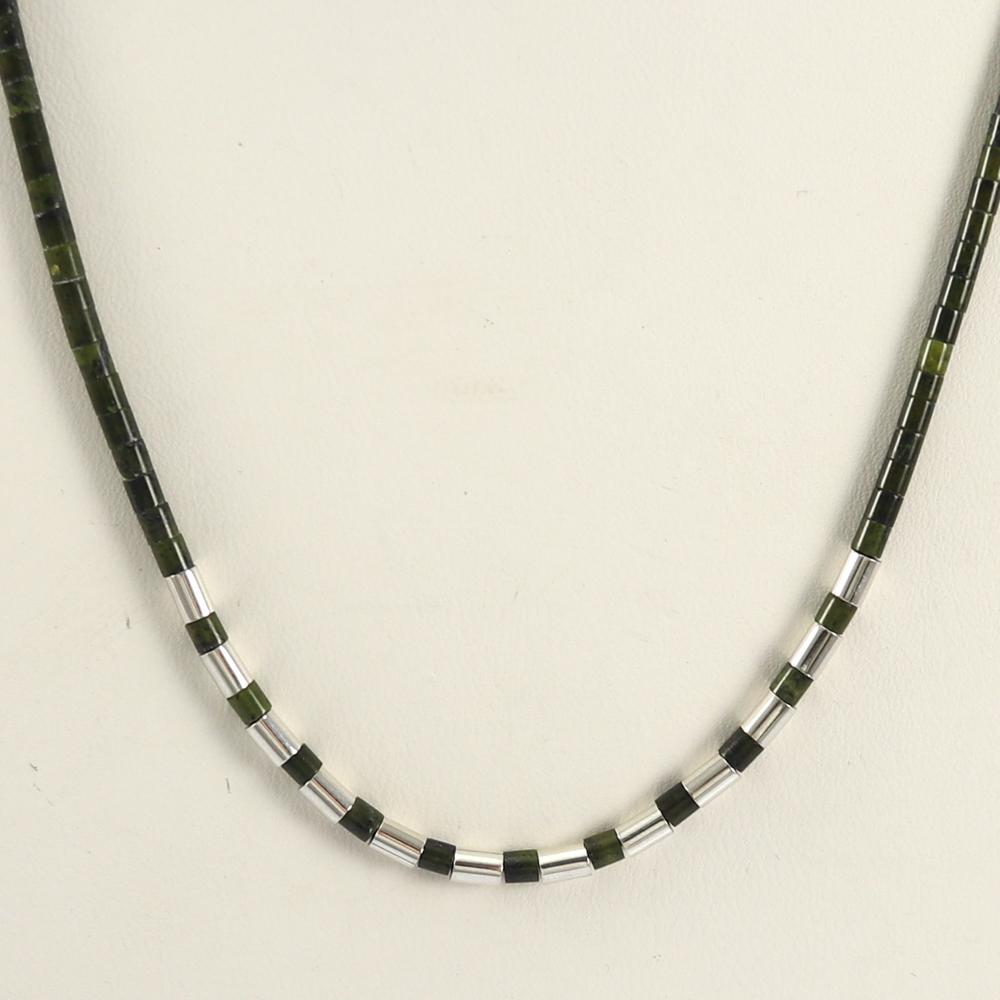 Serpentine Heishi Necklace