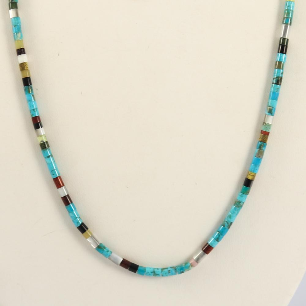 Multi-Stone Heishi Necklace