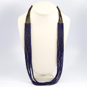 Lapis and Shell Necklace
