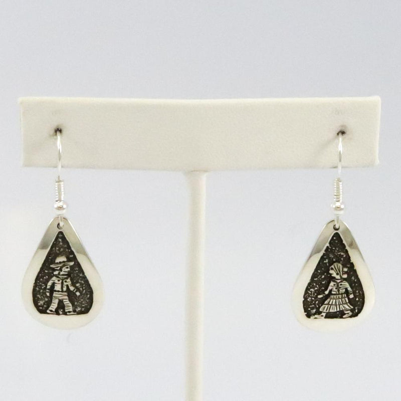 Navajo Overlay Earrings