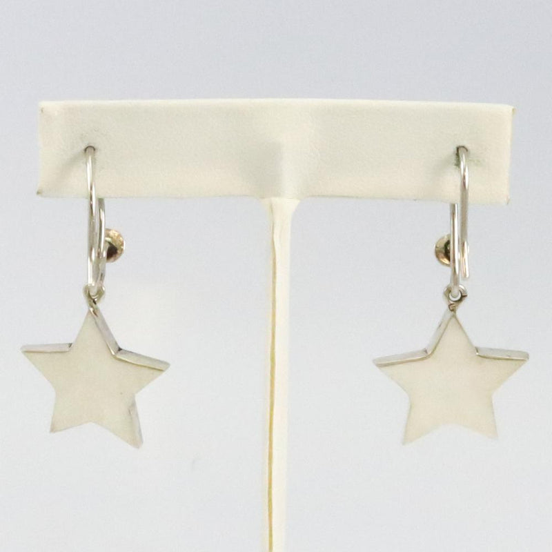 Lone Mountain Turquoise Star Earrings