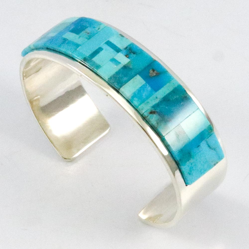 Inlaid Turquoise Cuff