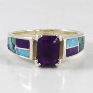 Amethyst Inlay Ring