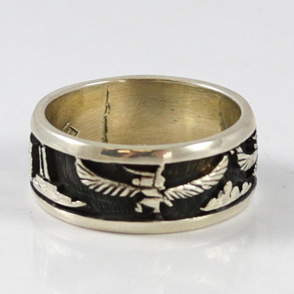 Eagle Kachina Overlay Ring