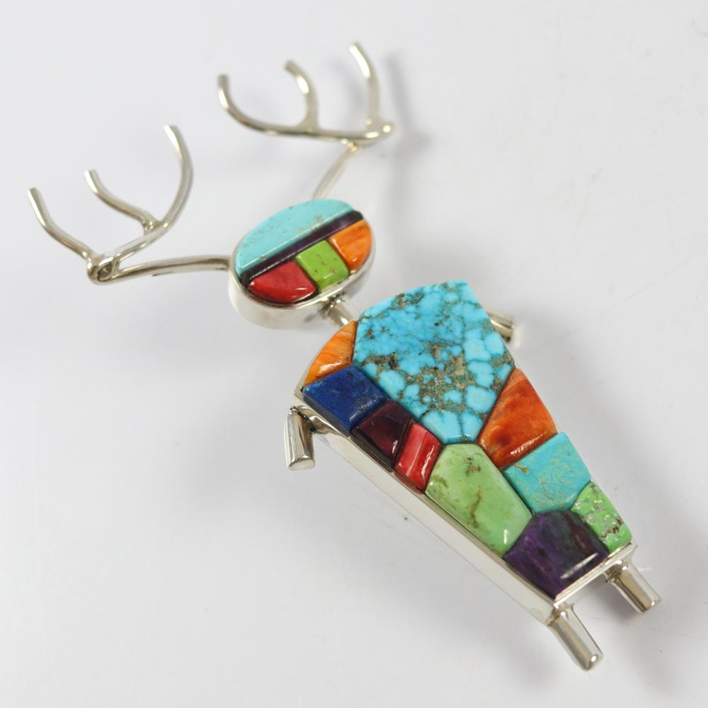 Elk Man Pin and Pendant