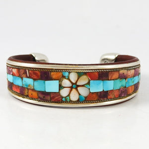 Flower Inlay Cuff