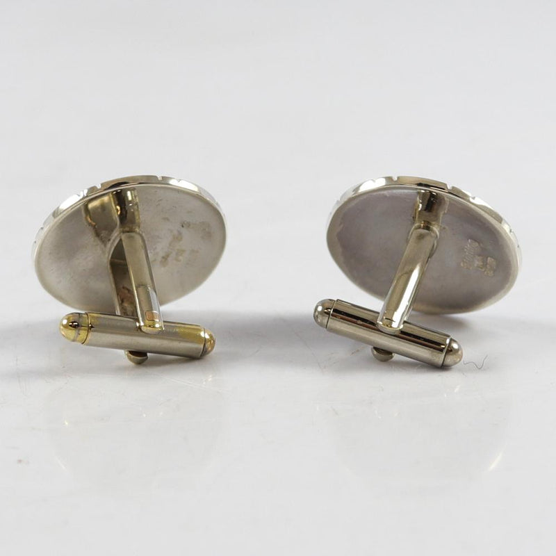 Gold on Silver Bear Cuff Links
