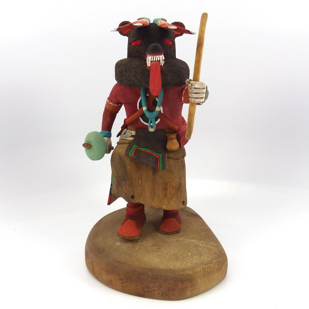 Brown Bear Kachina, Philbert Poleyestewa, Kachinas, Garland's Indian Jewelry