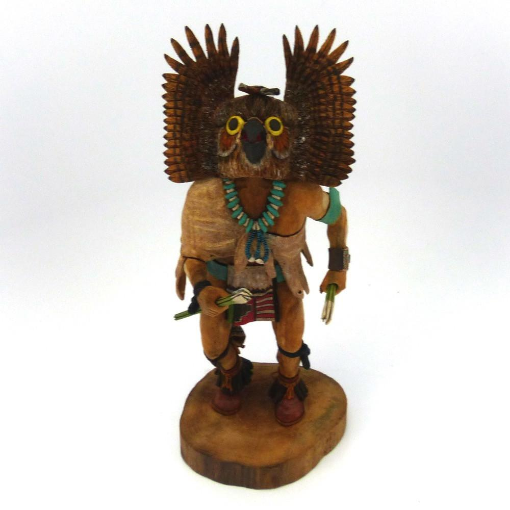Great Horned Owl Kachina, D'Armon Kootswatewa, Jewelry, Garland's Indian Jewelry