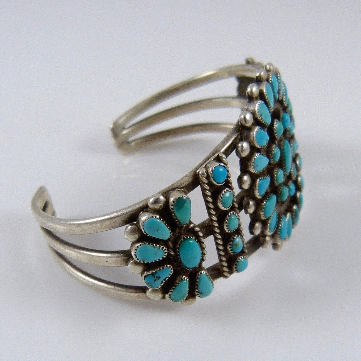 1940s Turquoise Cluster Cuff