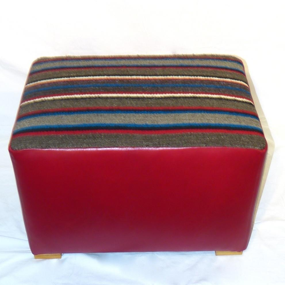 Ottoman with Saddle Blanket