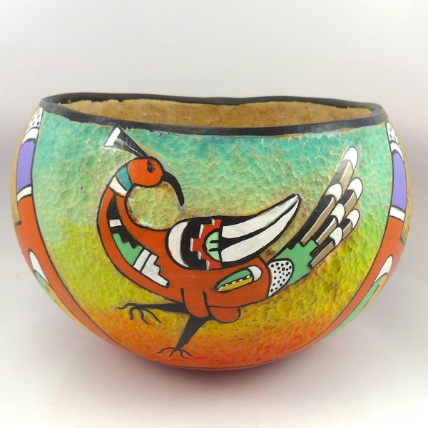 Hopi Gourd Bowl, David Roy, More, Garland's Indian Jewelry